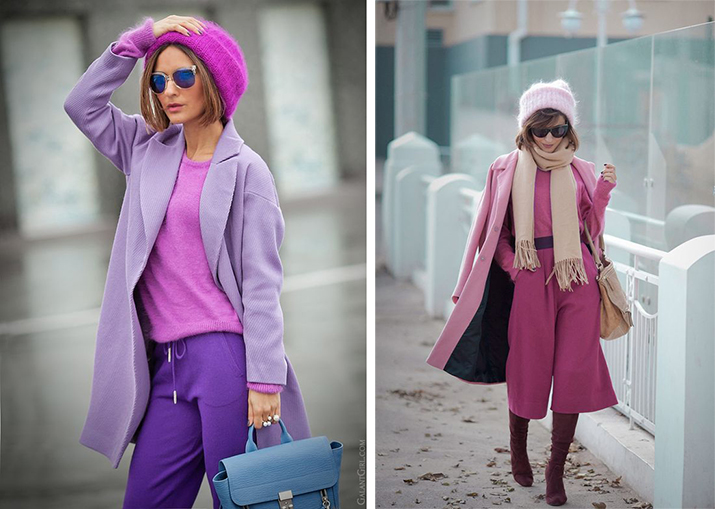 Ultra Violet и Spring Crocus  pantone fashion